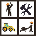 Under construction design concept with tools vector illustration Royalty Free Stock Image