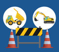 Under construction design concept with tools vector illustration Stock Photo