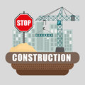 Under construction design concept with tools vector illustration eps graphic Royalty Free Stock Photo
