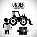 Under construction design concept with tools vector illustration eps graphic Stock Photo