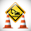 Under construction design concept with tools vector illustration graphic Stock Photo