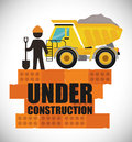 Under construction design concept with tools vector illustration graphic Royalty Free Stock Image