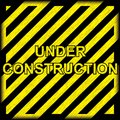 Under construction grunge background Stock Images