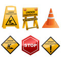 Under Construction Icon Set Stock Photos
