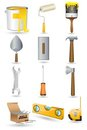 Under Construction icon Set Royalty Free Stock Photo