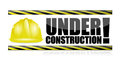 Under construction illustration design over a white background Royalty Free Stock Image