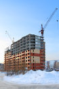 Under construction large apartment building Royalty Free Stock Photo