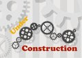 Under construction message made from gear Stock Photography