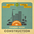 Under construction poster design Stock Photo