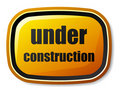 Under construction rectangle rounded button Royalty Free Stock Photo