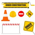 Under construction set Royalty Free Stock Photo