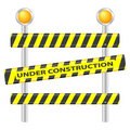 Under construction sign Royalty Free Stock Image