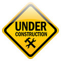 Under construction sign Royalty Free Stock Photo