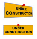 Under construction sign isolated on white d illustration Stock Image