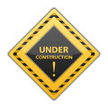 Under construction sign on white background Royalty Free Stock Images