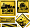 Under construction signs Stock Image