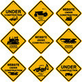 Under construction signs Royalty Free Stock Photo