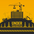 Under Construction Silhouettes Design Royalty Free Stock Photo