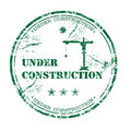 Under construction stamp Stock Image