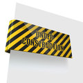 Under construction tag Royalty Free Stock Photos