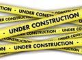 Under construction tape background