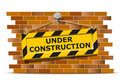 Under construction wall Stock Photography