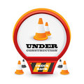 Under construction web style icon Royalty Free Stock Images