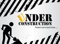 Under construction website black and white background image with a working man Stock Photo