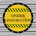 Under construction window Royalty Free Stock Image