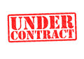 UNDER CONTRACT Royalty Free Stock Photo