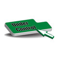 Under control button isolated green with the text written with black letters Royalty Free Stock Photography