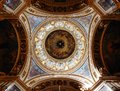 Under the dome of St. Isaac`s Cathedral in St. Petersburg Royalty Free Stock Photo