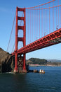 Under The Golden Gate Bridge Royalty Free Stock Photo