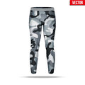 Under layer compression pants with in camouflage style.