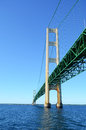 Under the Mackinac Bridge Stock Images
