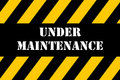 Under Maintenance Banner Stock Images