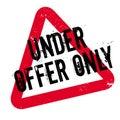 Under Offer Only rubber stamp