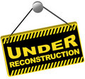 Under Reconstruction Sign Stock Images