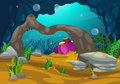 Under the sea background Royalty Free Stock Photo
