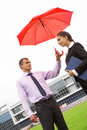 Under umbrella Royalty Free Stock Images