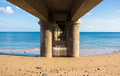 Under the wharf porto santo this image complements my other work to infinite Stock Photo