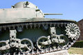 Undercarriage and caterpillars of the german tank from the world war ii this armored vehicle is produced in is an item Royalty Free Stock Images