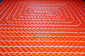 Underfloor heating at home stock photo Royalty Free Stock Photo