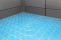 Underfloor heating installation of new central system Royalty Free Stock Photos