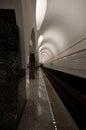 Underground, back-lighted walls Royalty Free Stock Photo