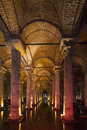 Underground basilica cistern istanbul turkey Royalty Free Stock Photos