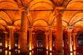 Underground Basilica Cistern, Istanbul, Turkey. Stock Photos