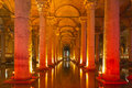 Underground basilica cistern istanbul turkey since romance rein Stock Image