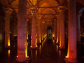 Underground basilica cistern istanbul turkey view of the located in Royalty Free Stock Image
