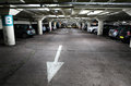 Underground car park with parked cars Stock Photo